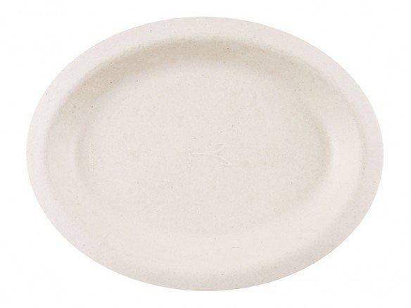 Bio Teller oval Zuckerrohr