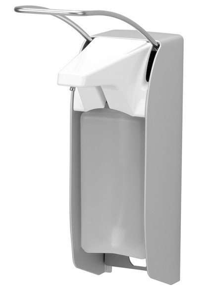 Desinfektionsmittelspender manuell langer Armhebel 500ml Aluminium
