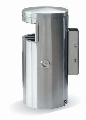 HELVETIAbin 60 litres autoportant avec cendrier latéral