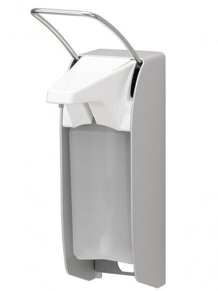 Desinfektionsmittelspender manuell kurzer Armhebel 500ml Aluminium