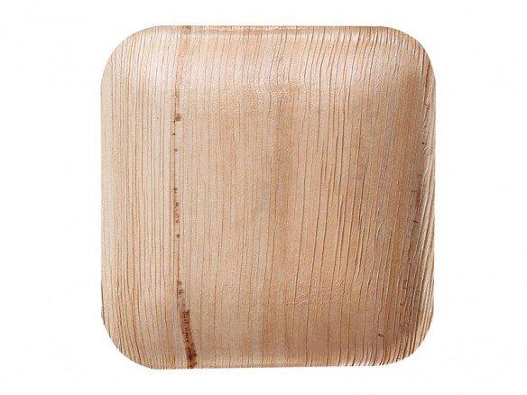 Bio Teller quadratisch Palmblatt