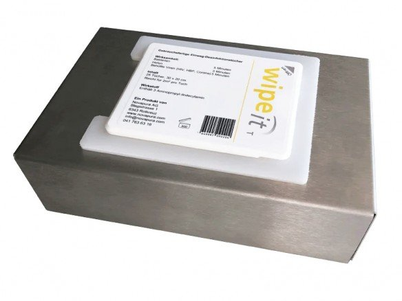 Edelstahl Box für wipe-it Desinfektionstücher