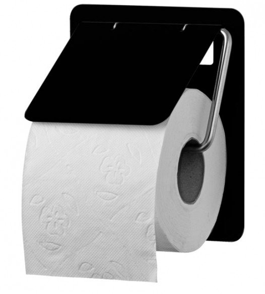 Toilettenpapierspender Edelstahl Midnight TRU 1