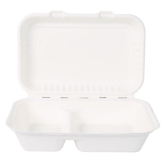 Organic take-away box with lid 2 pieces