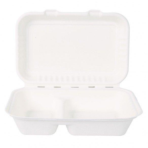 Bio Take-Away-Box mit Deckel 2-teilig
