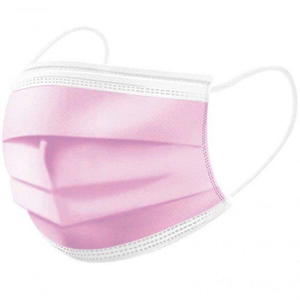 Schutzmaske Medizinal Typ llR 3-lagig Rosa