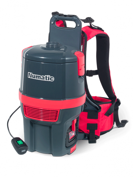 Numatic RSB140/1 backpack vacuum cleaner with 2 batteries