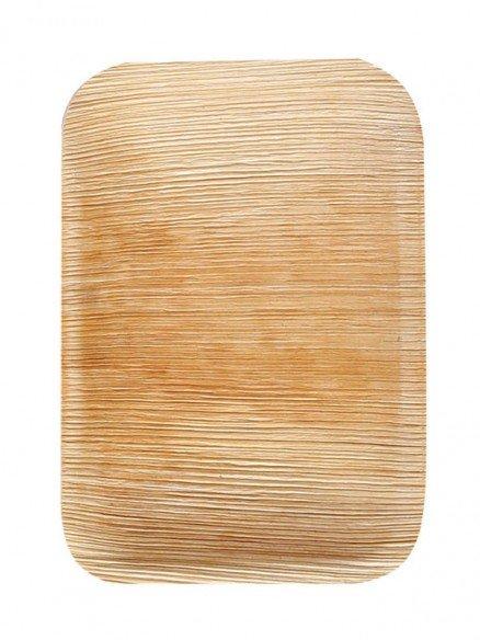 Bio Teller rechteckig Palmblatt