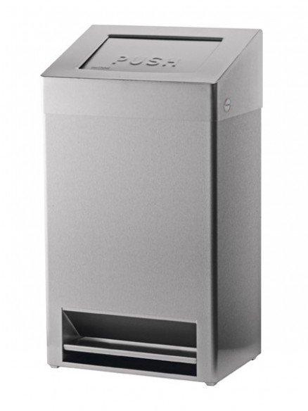 FBU Edelstahl Abfallbehälter mit Fussbedienung 40l