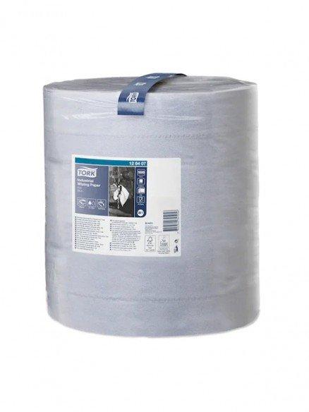 TORK Maxi Reinigungsrolle 3-lagig Recycling blau