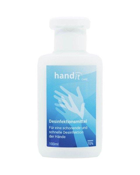 hand-it care Händedesinfektionsmittel 100ml in Kittelflasche