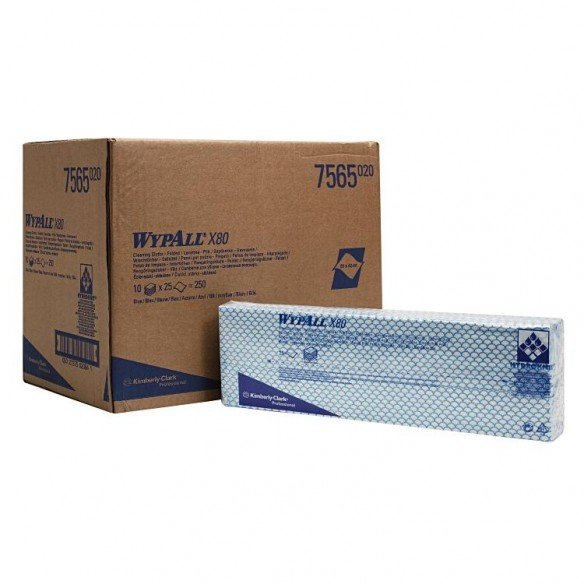 Wipes Wypall X80 Interfold 1-ply