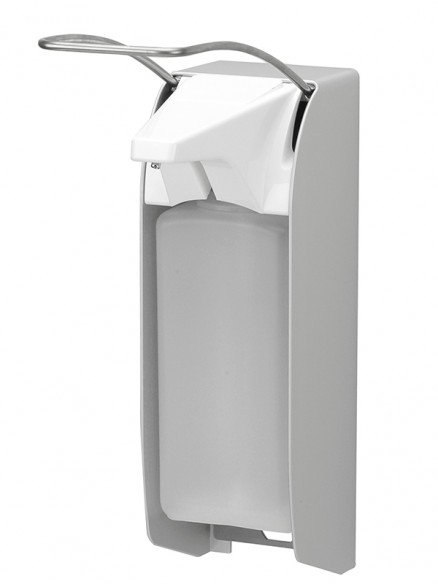 Desinfektionsmittelspender manuell langer Armhebel 1000ml Aluminium