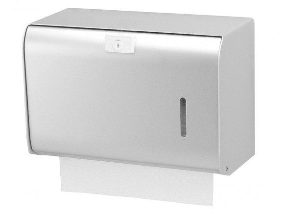 Papierhandtuchspender 300 Blatt Aluminium
