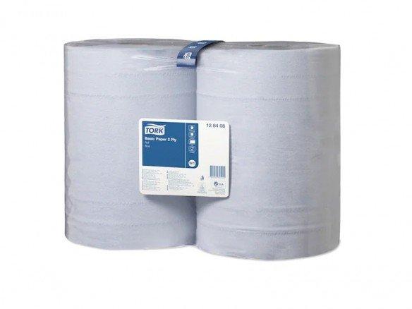 TORK Maxi Reinigungsrolle 2-lagig Recycling blau