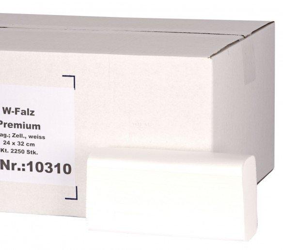 Serviettes en papier Premium W-fold 3 plis (2250pcs)