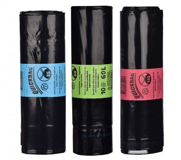 Quickbag refuse sacks OKS 17l, 35l, 60l or 110l
