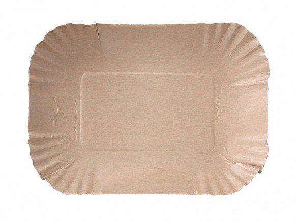 Pappschalen rechteckig Kraftpapier, FSC®-zertifiziert
