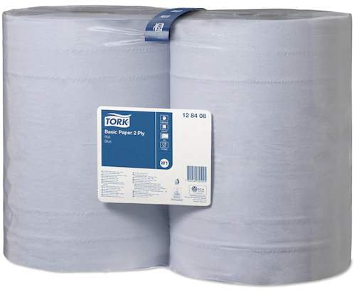 TORK Maxi Cleaning Roll 2-ply Recycling blue