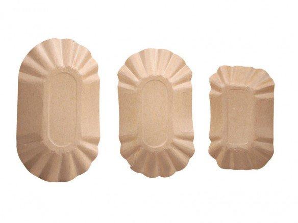 Bio Schale oval Kraftpapier, FSC®-zertifiziert