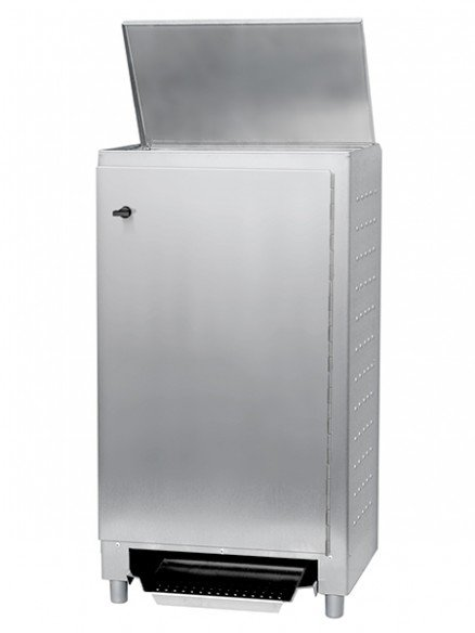 NWBR stainless steel waste bin with foot control and front door 50l or 70l