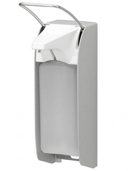 Desinfektionsmittelspender manuell kurzer Armhebel 1000ml Aluminium